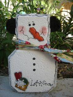 Sam the Snowman Patio Person by SunburstOutdoorDecor on Etsy, $20.00