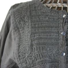 Three Button Embroidered Long Sleeve Blouse, Chiapas - Zinnia Folk Arts Mexican People, Mexican Textiles, Mexican Folk Art, Zinnias, Embroidered Blouse, Special Events, Hand Weaving, Button, Unique