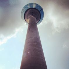 This tower was super high! The food at the revolving restaurant was delicious! Dusseldorf, Germany