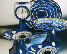 "Arabia ""Florence""Birger Kaipiainen (Erdinç Bakla archive) Ceramic Pottery, Pottery Art, Tapestry Weaving, Marimekko, Mid Century Style, Blue Life, Ceramic Artists, Scandinavian Design, Tea Set"