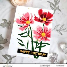 The Ton Stamps, Poppy Cards, Cosmos Flowers, Altenew Cards, Gift Certificates, Flower Cards, Cardmaking, Happy Birthday, Creative