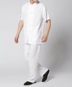 linen pants and shirts for men - pair w/ suspenders and hat for a very self defined look.....