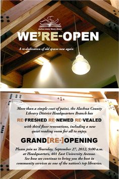 Grand Re-Opening Event Invitation & Program by Scot Sterling, via Behance