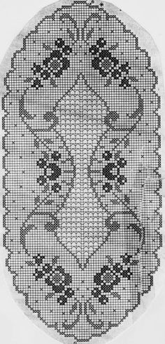 Crochet Edging Oval tablecloth with tiny roses Material: Cotton thread crochet Koral no. 15 A crochet needle no. 1 Size cm Th. Crochet Bedspread Pattern, Crochet Table Runner Pattern, Crochet Doily Patterns, Crochet Borders, Crochet Tablecloth, Thread Crochet, Crochet Motif, Crochet Designs, Crochet Doilies