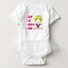 #cute #baby #bodysuits - #Let Me Love You-Cute Monkey-Morocko Baby Bodysuit