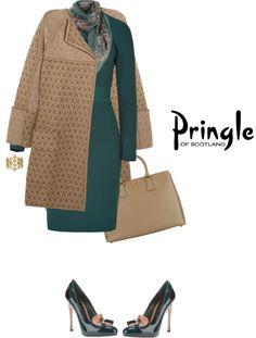"""Coat by PRINGLE OF SCOTLAND"" by fashionmonkey1 ❤ liked on Polyvore"
