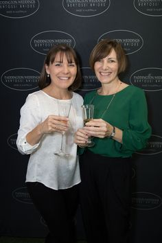 Anne and Gill at the media wall after the 2018 Bertossi Brides collection launch at Paddington Weddings. Celebrating a wonderful night. www.paddingtonweddings.com.au