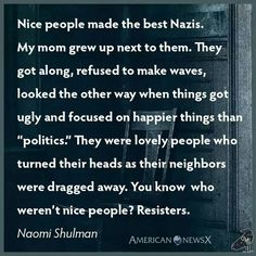 Love with wisdom and discernment, don't be a nice person.