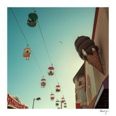 Carnival Photograph | Sky Glider | Santa Cruz by YoungSwanDesigns