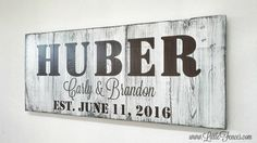 Family Name Established Sign  Handmade Wood Sign  by LittleFences