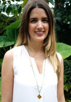 exvoto vintage turquoise necklace