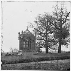 Tomb of President James Monroe in Hollywood Cemetery - Richmond, VA, 1865