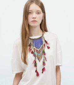 Zareando Forever: De ZARA: Collar étnico plumas