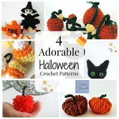 4 Adorable Halloween Crochet Patterns is a roundup compiled of Simply Collectible Designs