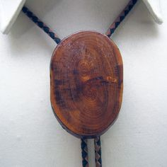 1970s Polished Wood Bolo Tie by PandPF on Etsy
