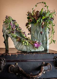 Floral shoe designs by Francoise Weeks