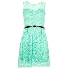 Mint Sweetheart Lace Shift Dress (£22) ❤ liked on Polyvore featuring dresses, vestidos, short dresses, blue, green dress, blue floral dress, short lace dress, short blue dresses and lace mini dress