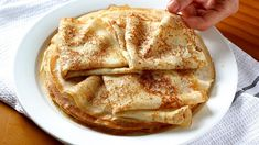Why do I add boiling water to crepes? Rich and easy crepes - Recipes wit. Easy Crepe Recipe, Crepe Recipes, Brunch Recipes, Sweet Recipes, Breakfast Recipes, Dessert Recipes, Beignets, Bread Jam, Crepes And Waffles