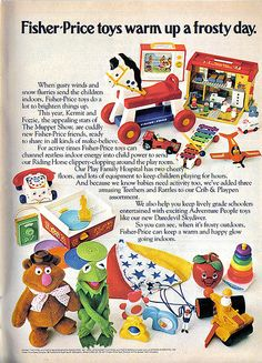 Vintage Ad #1,027: Fisher-Price toys warm up a frosty day