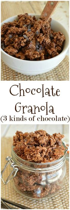 Chocolate Granola, because some mornings are just like that! And, because I'm such a fun mom, my kids get it in their lunchboxes too!