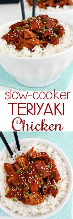 Slow-Cooker Teriyaki Chicken #teriyakichicken #slowcooker #chickenrecipes