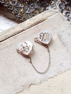 Vintage Gold and Mother of Pearl Sweet Heart by MyVintageSupplies