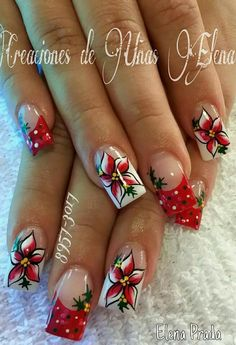 - Best ideas for decoration and makeup - Chistmas Nails, Xmas Nail Art, Xmas Nails, Holiday Nails, Beautiful Nail Designs, Beautiful Nail Art, Cool Nail Designs, Fancy Nails, Cute Nails