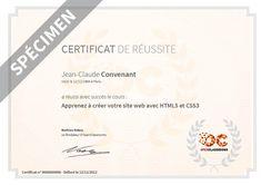 Exemple de certificat de réussite