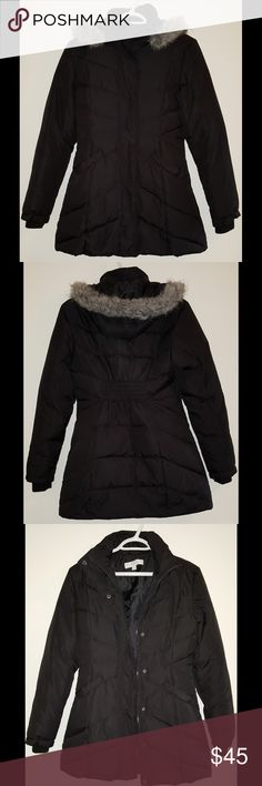 ⛄ny&co puffer coat in euc! ⛄faux fur trimmed hood is removable ⛄two front pockets plus a pocket inside on the left chest area ⛄has a zippered closure that is also covered by a flap secured by snaps ⛄shell & lining: 100% polyester, main filling: 55% down and 45% feathers, hood fiberfill: 100% polyester, hood trim: faux fur 100% acrylic with 100% polyester backing  no tradesno holds offers gladly considered if  given through the offer button OR  bundle your likes - I'LL send YOU a SPECIAL…