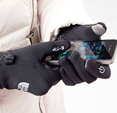 North Face ETIP glove to scroll through your iPhone when it's cold. PERFECT gift