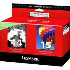 3 X Lexmark 14/15 (18C2239) OEM Genuine Inkjet/Ink Cartridge (Black 18C2090+ Color 18C2110)*1 - Retail