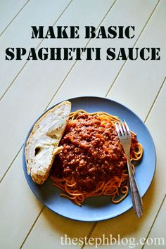 How to make basic all purpose spaghetti sauce from scratch the easy way eat it with pasta or without, or with spaghetti squash that recipe is here too super healthy for dinner