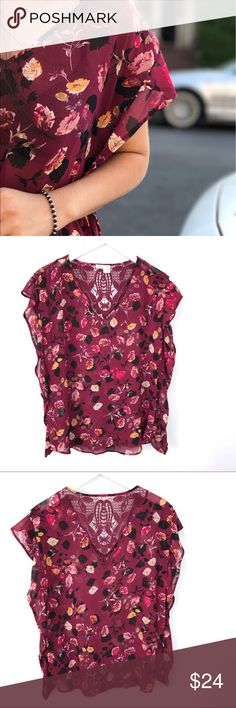 """Anthropologie Meadow Rue Blouse Top S. Small Anthropologie Meadow Rue top. Sz small. Chest flat across 20"""" length 27"""" Anthropologie Tops Blouses"""