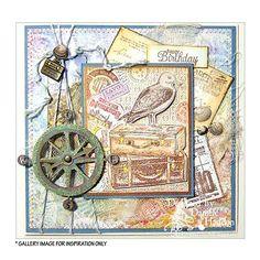 Crafty Individuals CI-344 - 'Seagull Adventure' Art Rubber Stamp, 70mm x 85mm - Crafty Individuals from Crafty Individuals UK