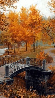 Autumn in an Old Park by Evgeny Lushpin