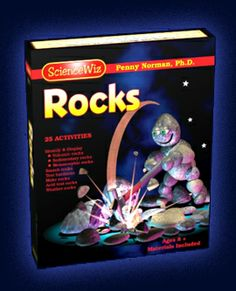 Science Wiz : Rocks and Geology kit with book that relates tectonic plate movement to types of rocks, includes internet vidoes, animations a...