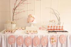 Cherry Blossom Dessert Tablescape