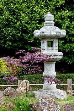 Stone Lantern, Japanese Tea Garden, Golden Gate Park, San Francisco, CA,