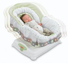 Fisher-price Coco Sorbet Soothing Motions Glider Cradle Seat Bed Baby Nap Rocker