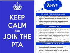 Keep calm and join PTA