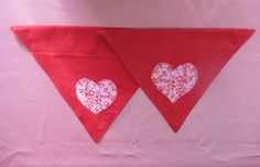 On Sale!! Red Heart Valentine Dog Bandanna Over The Collar by FurriPersonal on Etsy