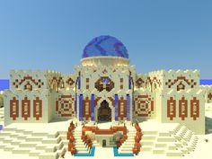 Minecraft Desert House, Minecraft Palace, Minecraft Castle, Minecraft House Designs, Minecraft Creations, How To Play Minecraft, Minecraft Party, Minecraft Stuff, Minecraft Structures