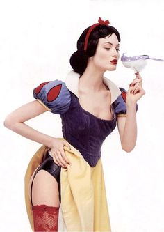 Shalom Harlow photographed by Francois Nars for his book X-Ray.  Now that's what I call a Halloween costume.