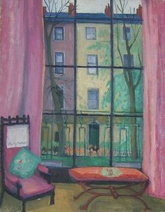 Stanisława de Karłowska (1876-1952) Sitting Room. This is one of a number of paintings made by the artist in London during the 1930s.
