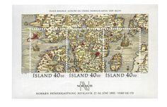 La labor cartográfica era inmensa e incluía, entre otras muchas cosas, darle nombre a las tierras y lugares conquistados, como el mismo continente de América. ISLANDIA,1990 Hoja recuerdo. Carta marina que muestra a Dinamarca, el sur de Suecia, las islas Aland y la isla de Gotland