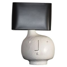 Large Ceramic Lamp Base and Shade Signed by DaLo | From a unique collection of antique and modern table lamps at https://www.1stdibs.com/furniture/lighting/table-lamps/
