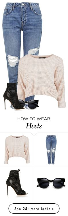 """Killer Heels"" by the-l0st-girl on Polyvore featuring Topshop, Gianvito Rossi, women's clothing, women's fashion, women, female, woman, misses and juniors"