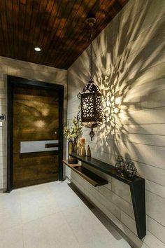 24+ Stunning Warm Villa Interior Design Ideas for Inspiration #interiordesignideas #interiordecorating #interiordesign Main Entrance Door Design, Home Entrance Decor, Entry Way Design, House Entrance, Entryway Decor, Entrance Foyer, Entrance Ideas, Entryway Ideas, Door Entryway