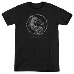 Mortal Kombat X - Stone Seal Adult Ringer T- Shirt