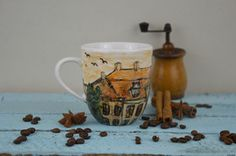 Kubek Stara Kamienica Handmade painted cup mug